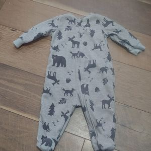 Carter's 6mo Gray Footie Jammies